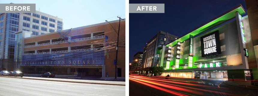 Rockville Town Center - Before and After