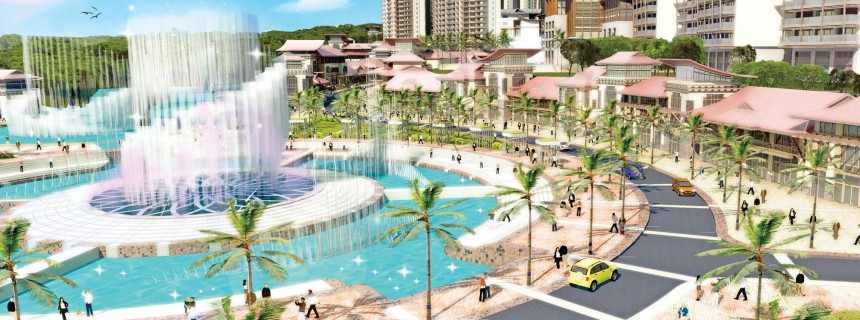 Manjingkang Commercial Master Plan festival fountain